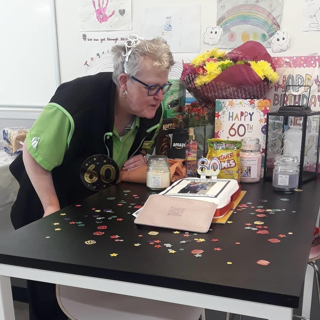 Happy 60th birthday Jackie | Asda Wrexham