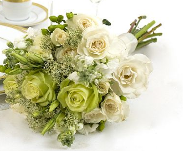 Green and White Collection Bouquet