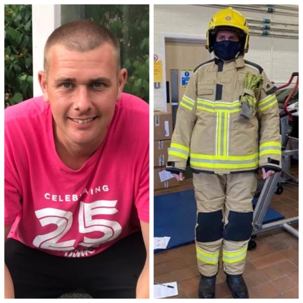 On-call firefighter Neil Shilvock from Asda Pwllheli