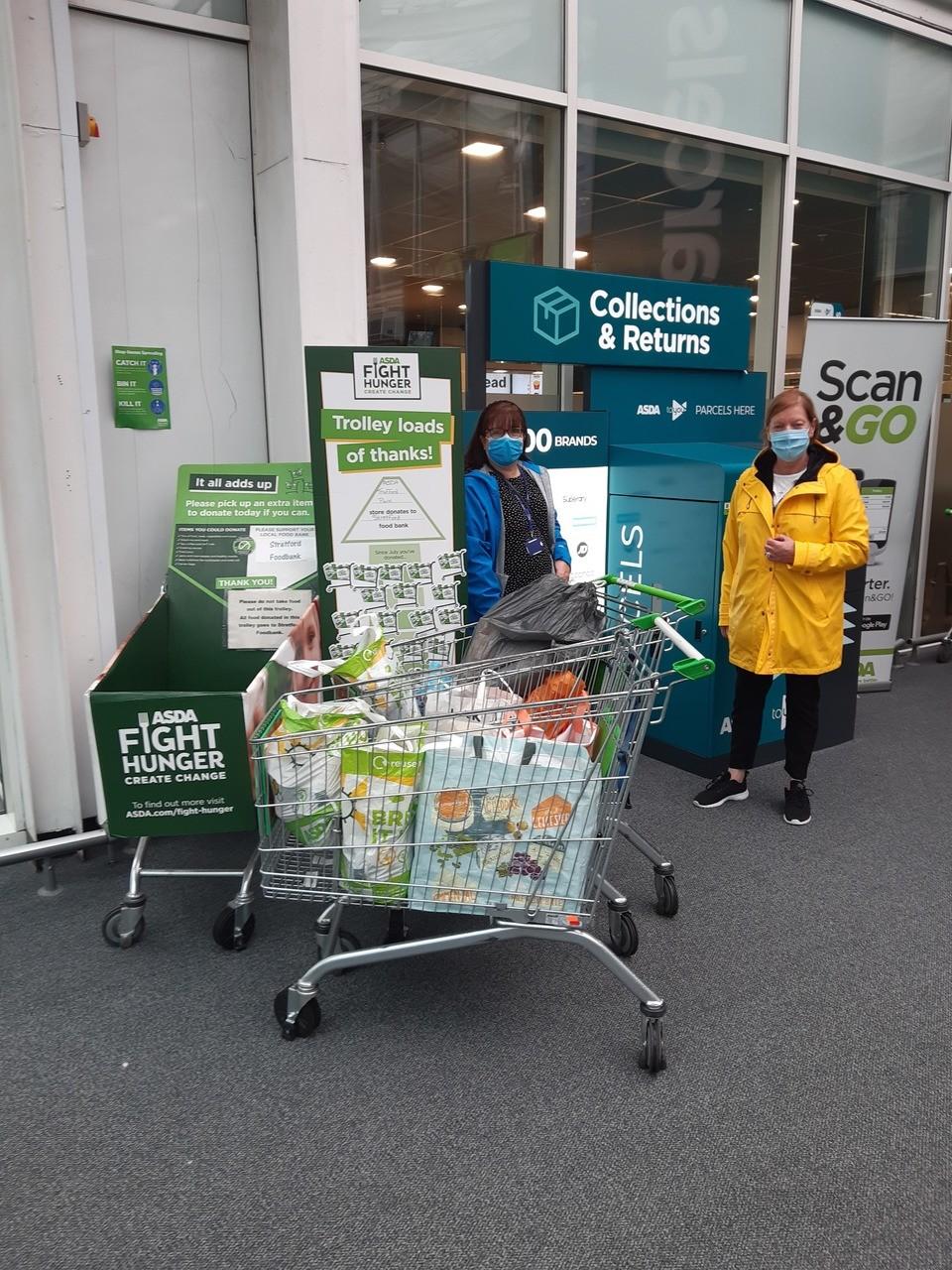 Stretford Foodbank donation | Asda Trafford Park