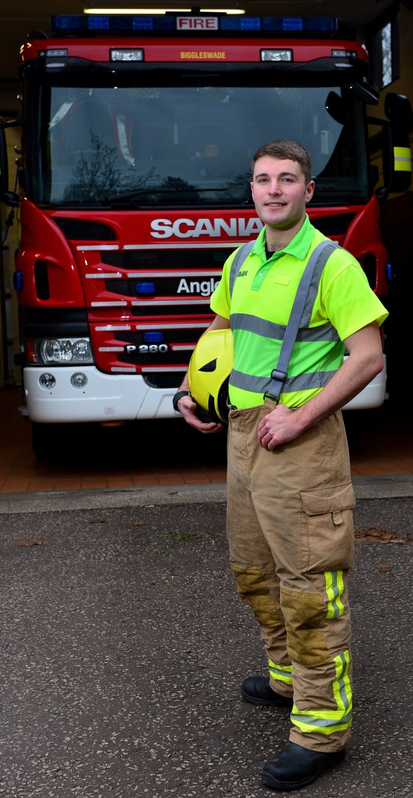 Asda Biggleswade colleague and retained firefighter James Luff