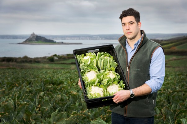 Asda cauliflower grower Tom Simmons