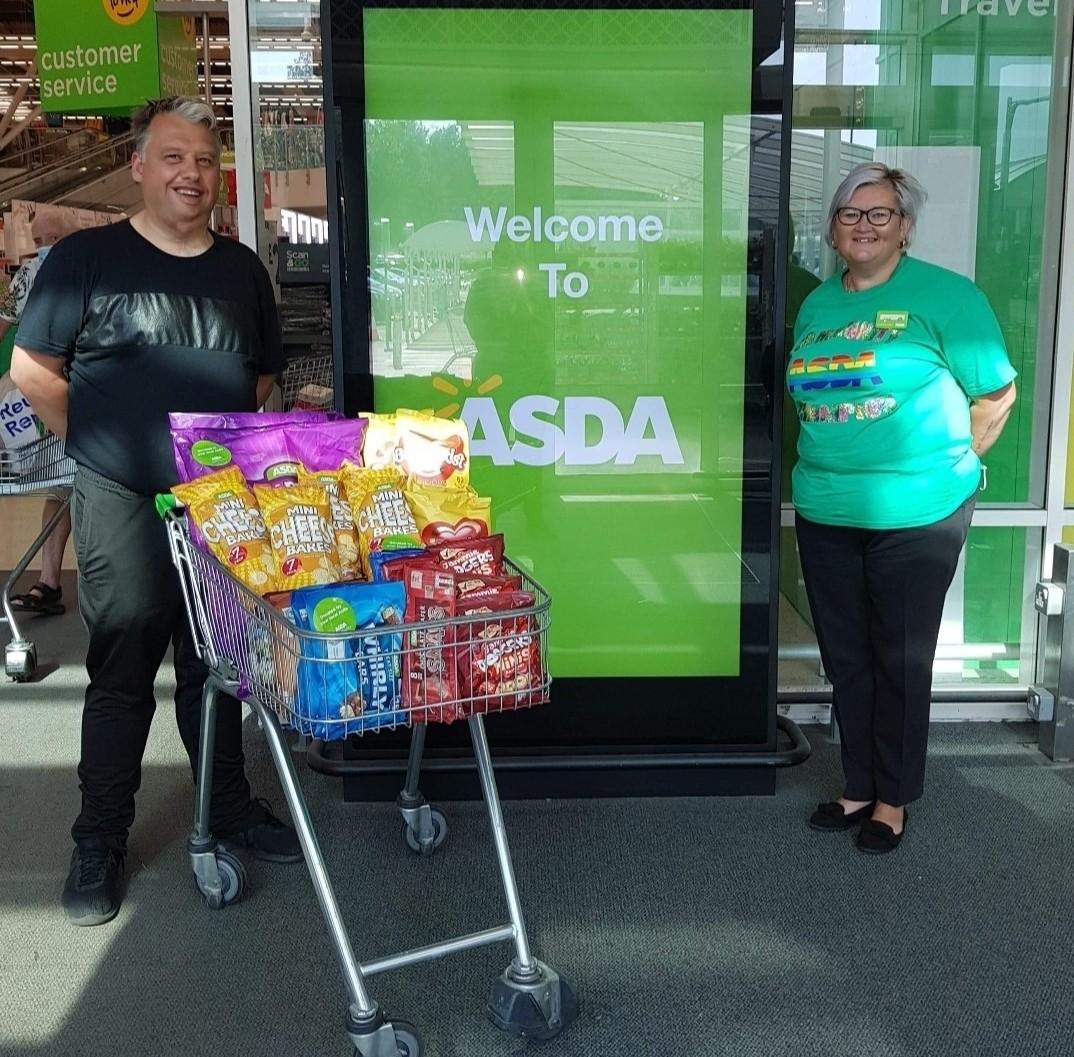 Snacks to youth club | Asda Donnington Wood