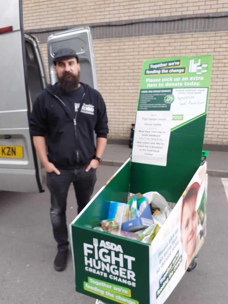 Colleague food bank donation | Asda Fareham
