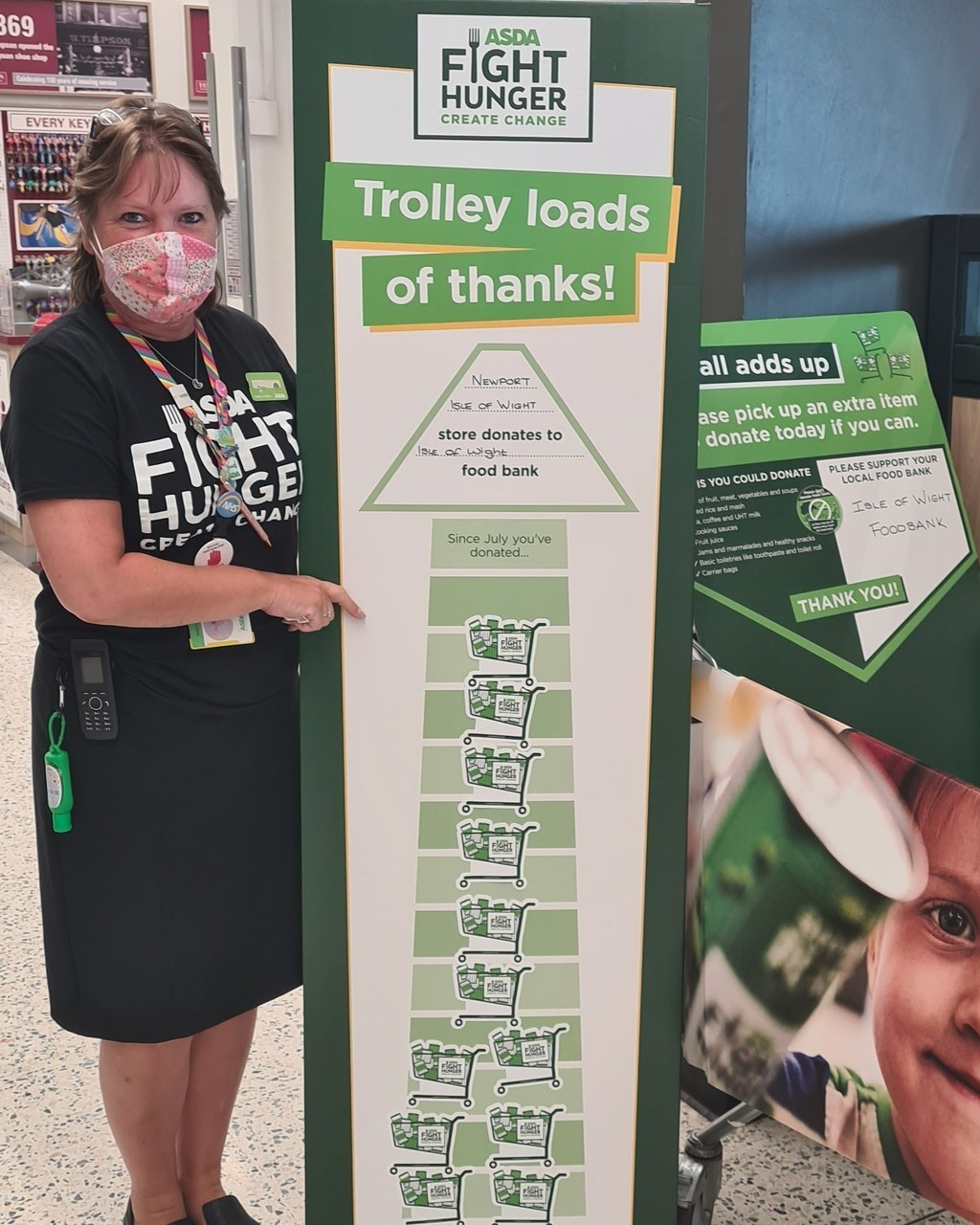 Thank you for supporting Isle of Wight Foodbank | Asda Newport Isle of Wight