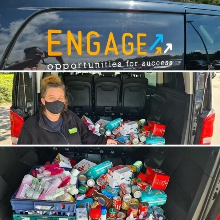Food Bank Donation toEngage | Asda Blyth