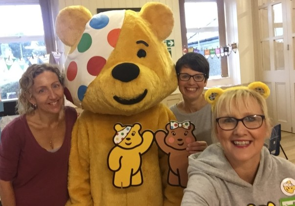 Asda Pwllheli community champion Jo Scott supporting BBC Children in Need