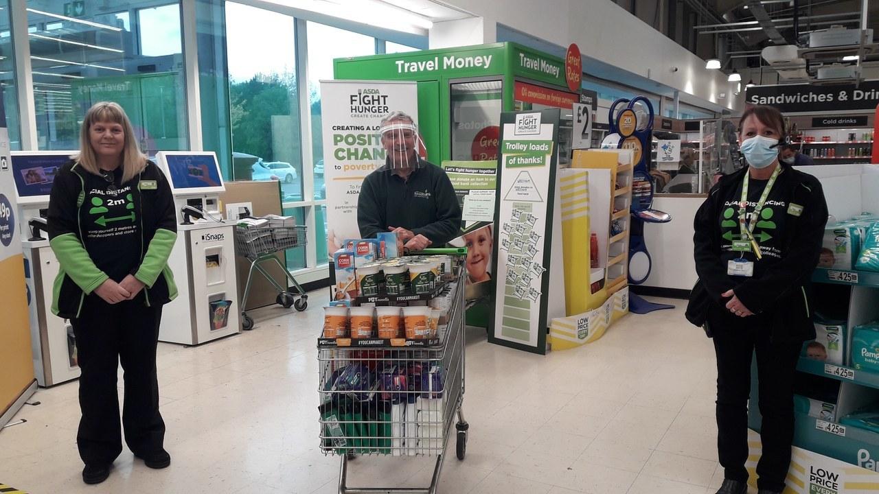 Foodbank donation | Asda Wrexham