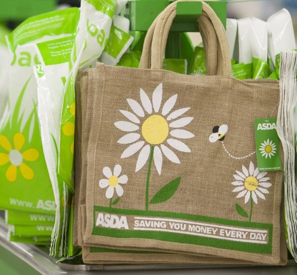 Asda reusable fabric shopping bags