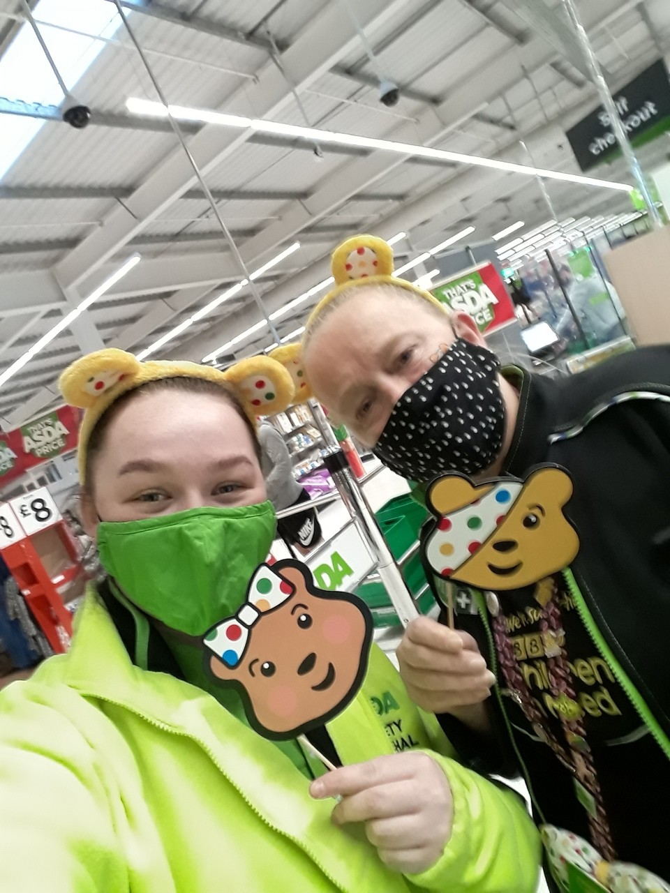 Children in need  at Asda  Swinton  . Oh the fun we had on the lucky dip | Asda Swinton