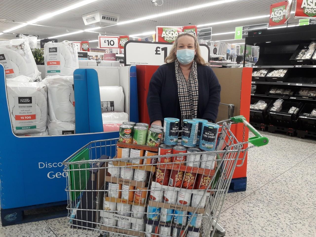 Donation to foodbank | Asda Newport