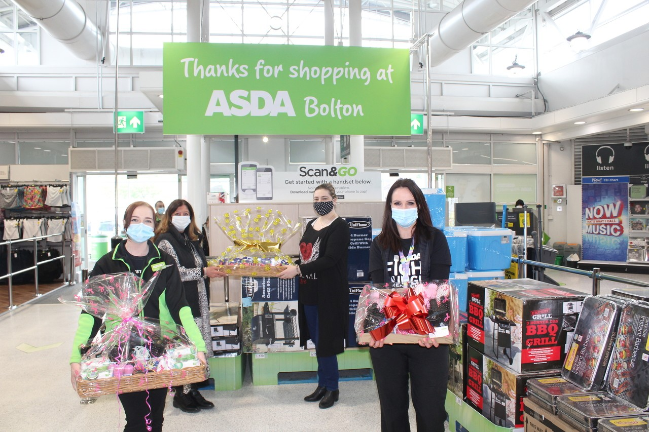 Bolton Burnden Park and Farnworth Store donations to the Cradle Charity. | Asda Bolton