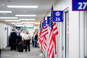 Potential suppliers fill the hallways at the Walmart Home Office at 2018 U.S. Manufacturing Open Call in Bentonville, Ark.
