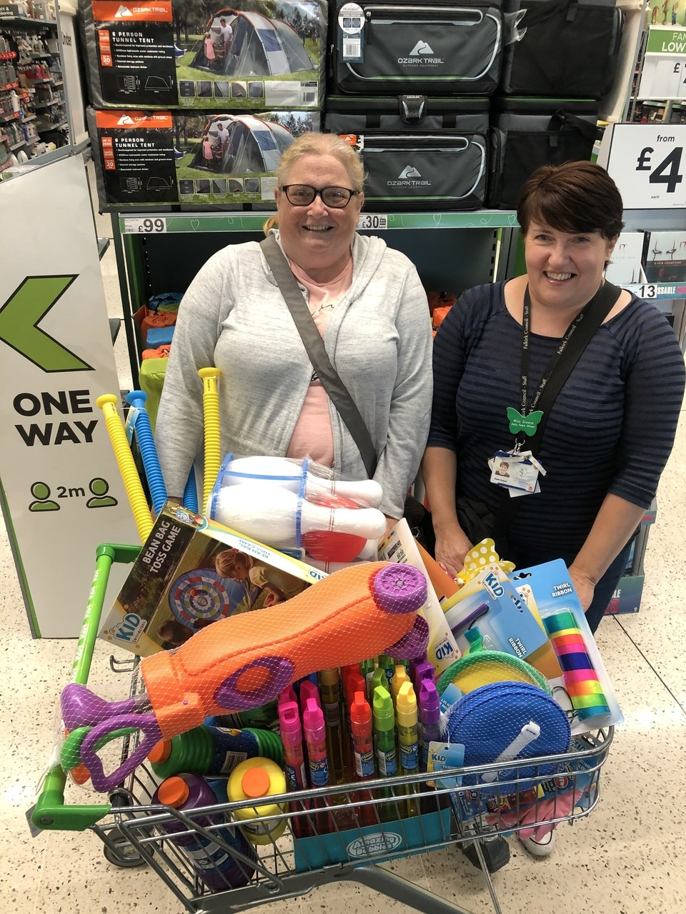 Ladeside Primary School donation | Asda Stenhousemuir