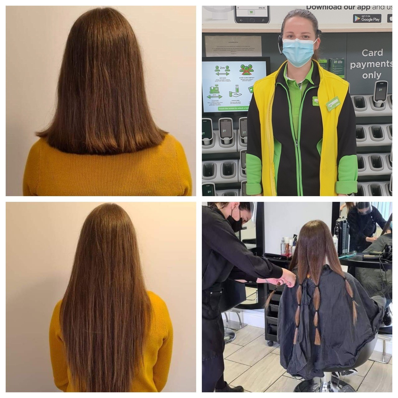 Cwmbran colleague Amy has locks lopped for the Little Princess Trust | Asda Cwmbran