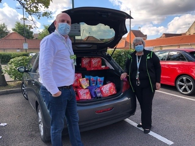 Donation of chocolates to Crouch Vale Clinic | Asda South Woodham Ferrers