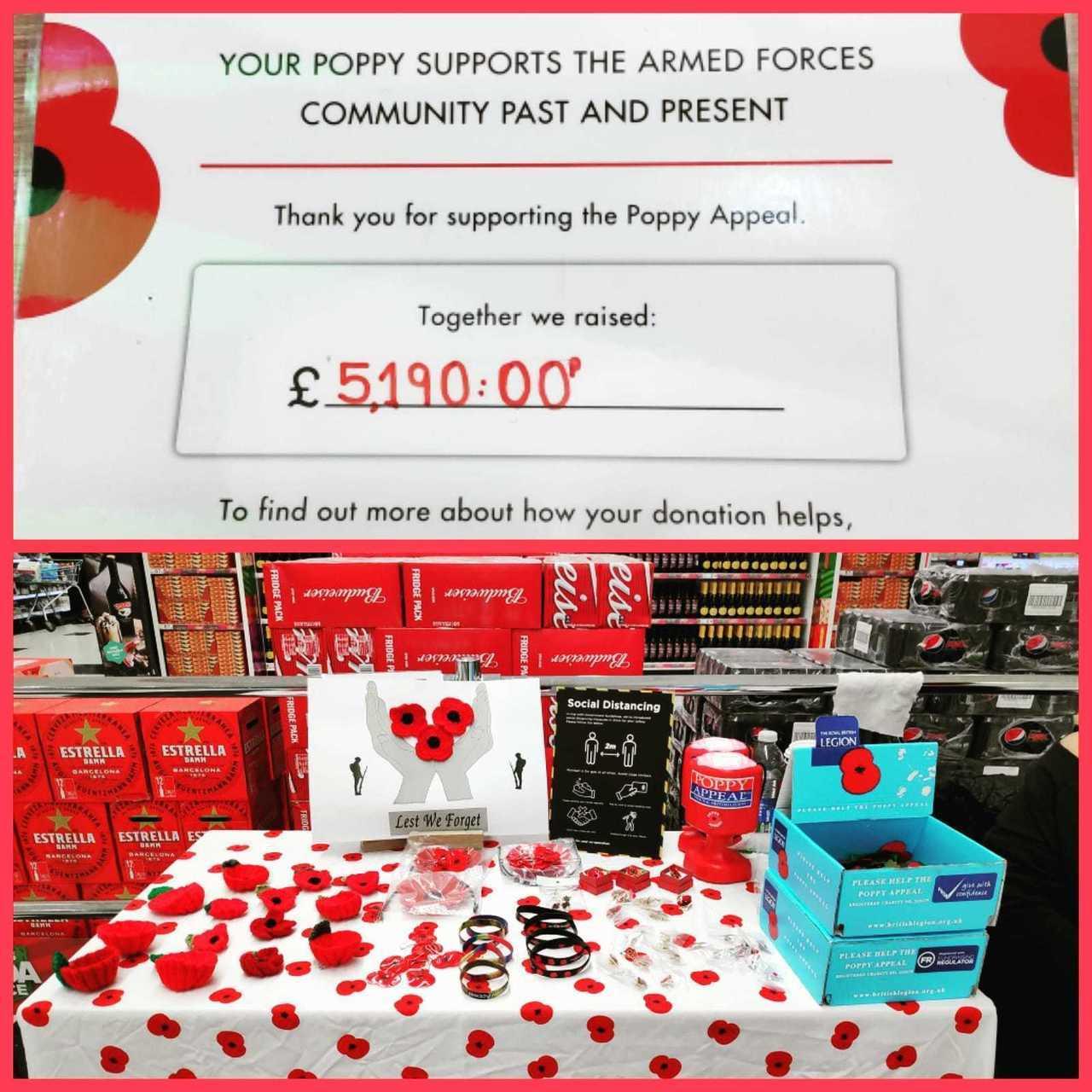 Poppy appeal success | Asda Watford