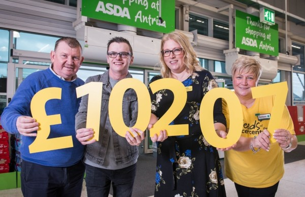 Asda Antrim raises £10,000 for Friends of Belfast cancer centre in support of inspirational colleague Stuart Pierce