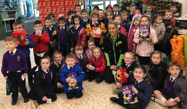 Easter store tour at Asda Omagh with community champion Colleen