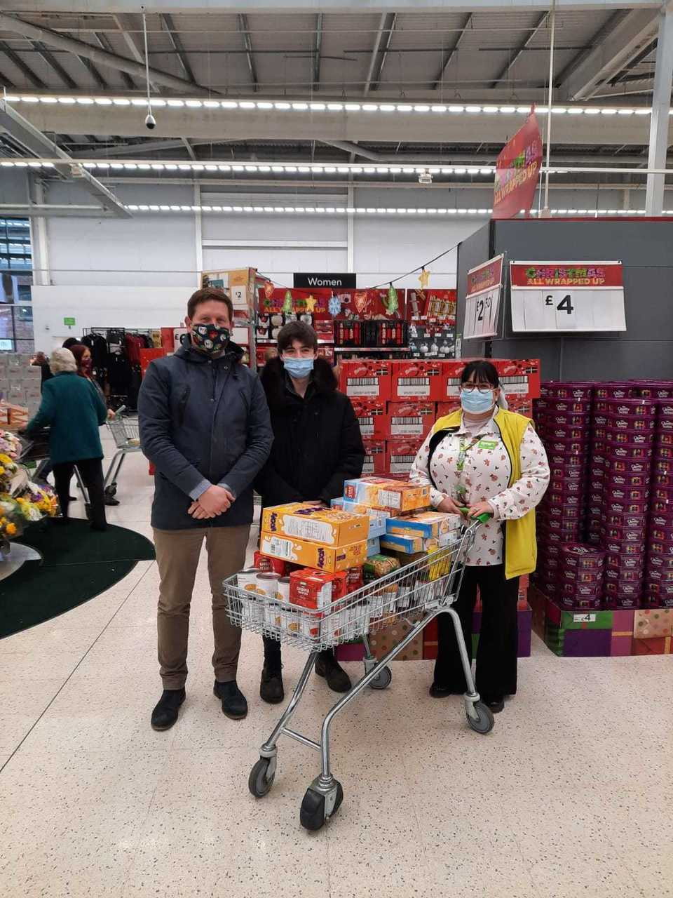 Food donation to the Aspire Academy  | Asda Worcester