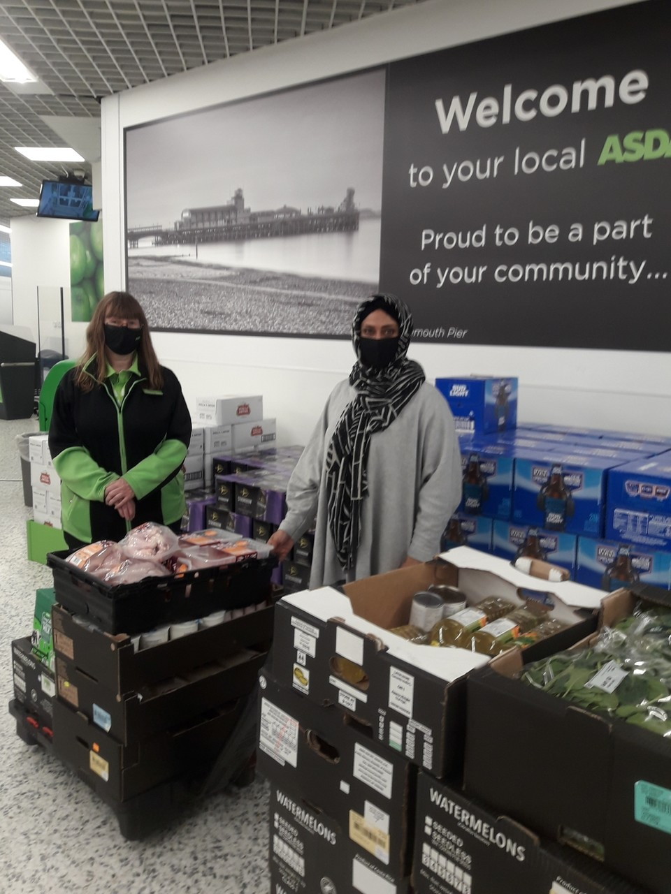 Ramadan donation from Asda Bournemouth | Asda Bournemouth