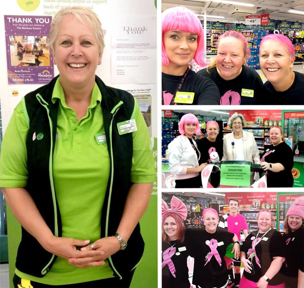 Asda Fareham Tickled Pink fundraiser