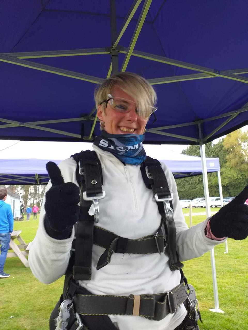 Skydiving Sue | Asda Llandudno
