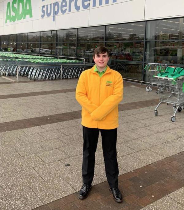 Michael King is thriving after getting a job at Asda Swindon Haydon