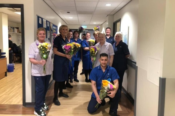 Asda Walton flowers for NHS staff at Aintree Hospital
