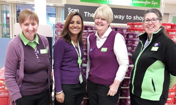 Supporting Purple Tuesday at Asda Leamington Spa