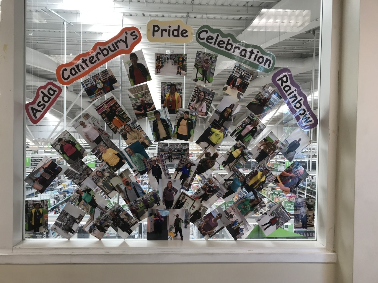 Asda Canterbury's Pride rainbow | Asda Canterbury