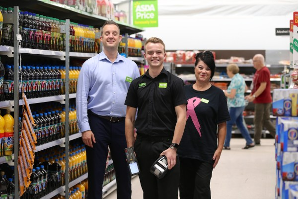 Jack Cowles is one of Asda's youngest section leaders