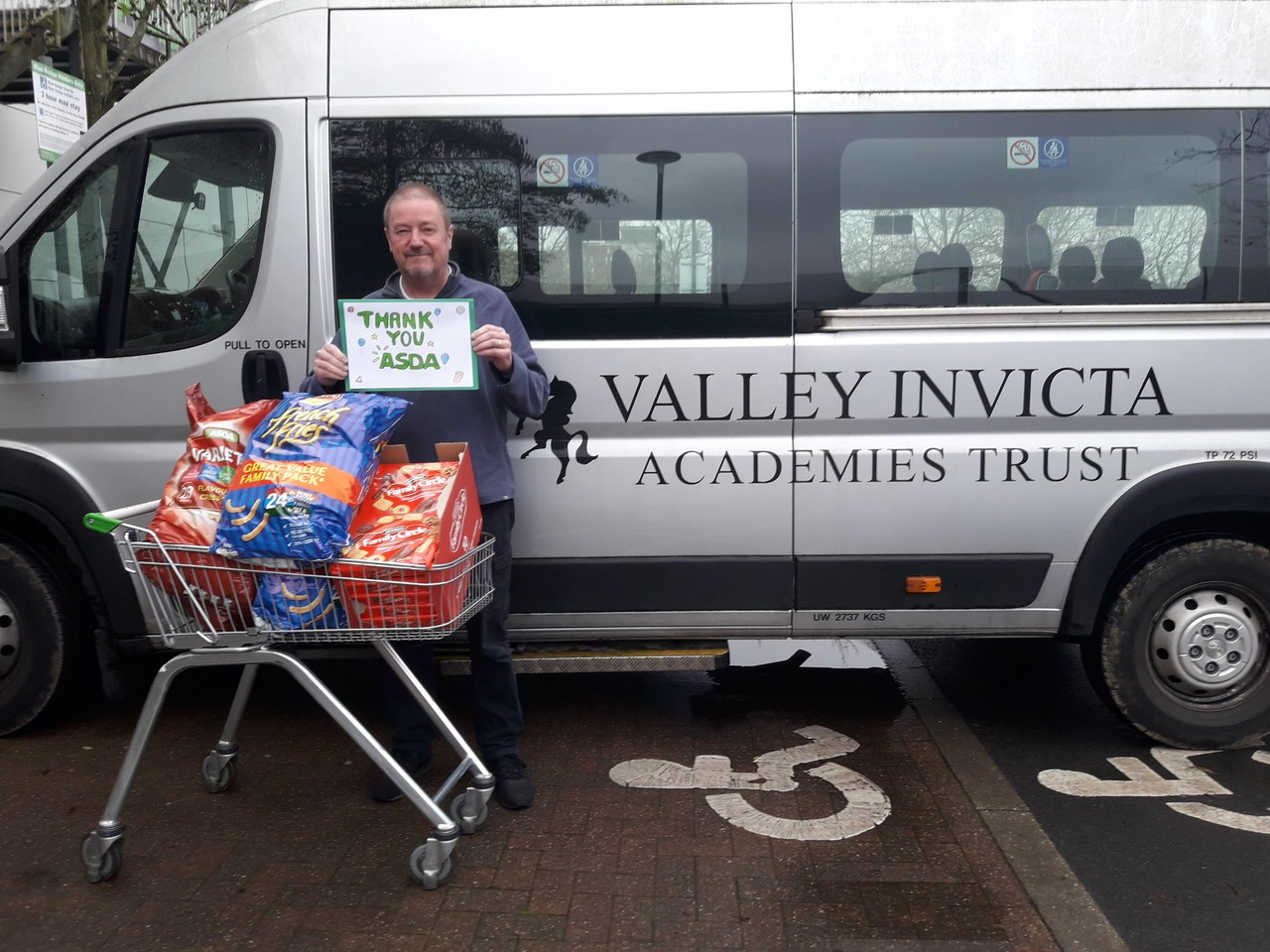Christmas party donations for local school   Asda Kingshill