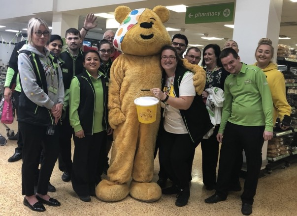 Asda Charlton colleagues supporting BBC Children in Need