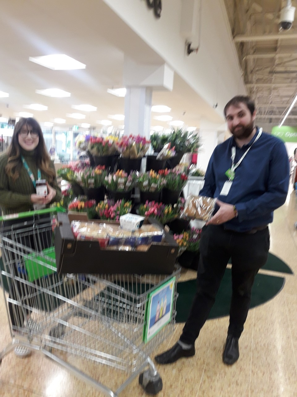 Our local hospice st Margaret's were delighted with our donation to them of cream teas. | Asda Taunton
