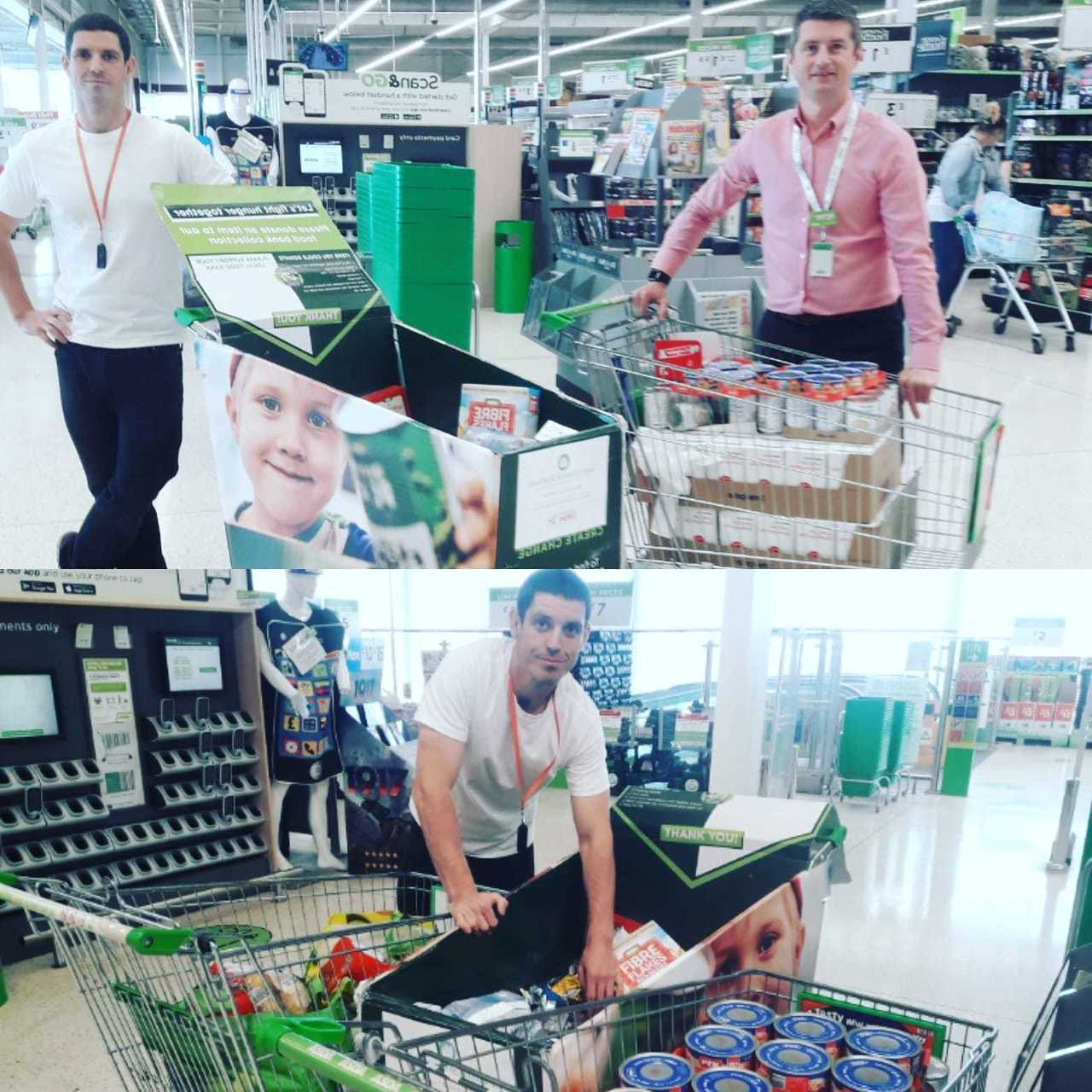 Food bank donation from Asda South Shields | Asda South Shields