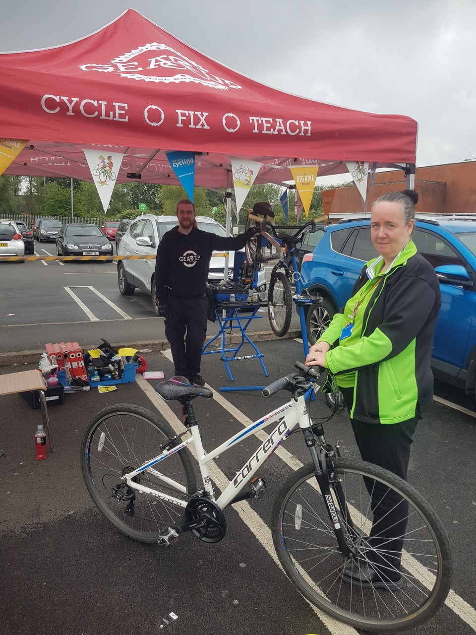 Pop-up bike check | Asda Small Heath