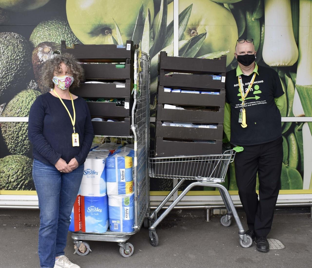 Hygiene bank donation | Asda Bideford