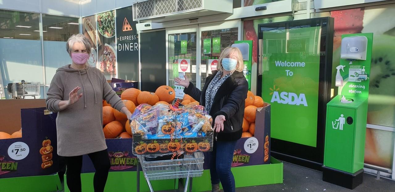 Trick or Treat? Halloween-themed hamper for David Walker Gardens care home | Asda Toryglen