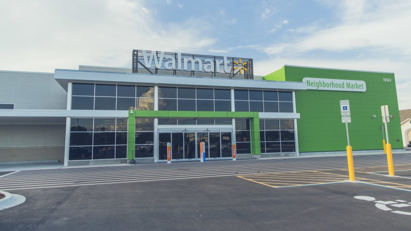 walmart neighborhood market storefront view