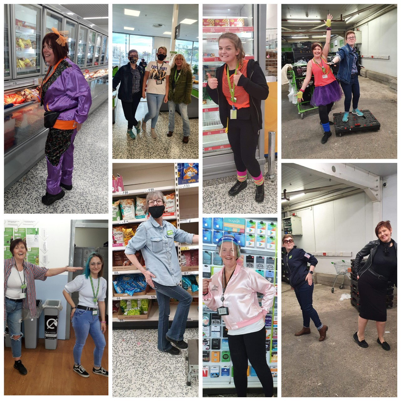 We celebrate 'Asda Price' by dressing up in 70s, 80s and 90's gear   Asda Ashton