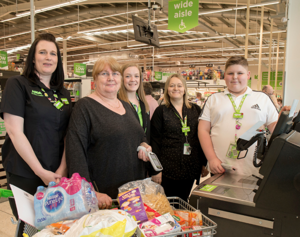 Finley Bushnell loves helping everyone on his visits to Asda Portsmouth