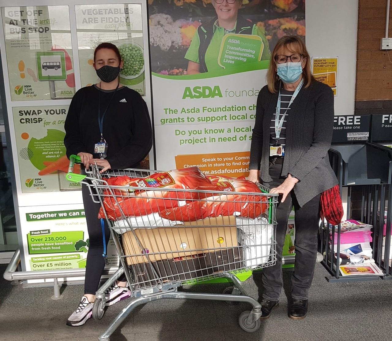 Donation to food bank | Asda Pilsworth