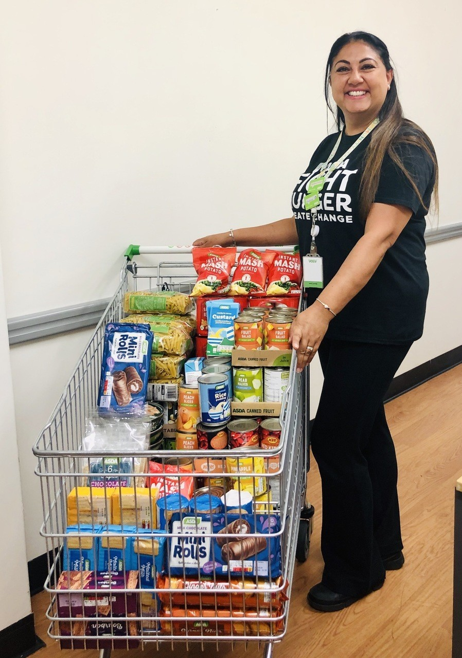 Food bank donation for Fight Hunger | Asda Leicester Abbey Lane