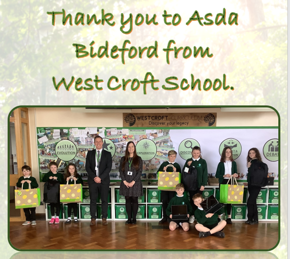 West Croft School laptop donation | Asda Bideford
