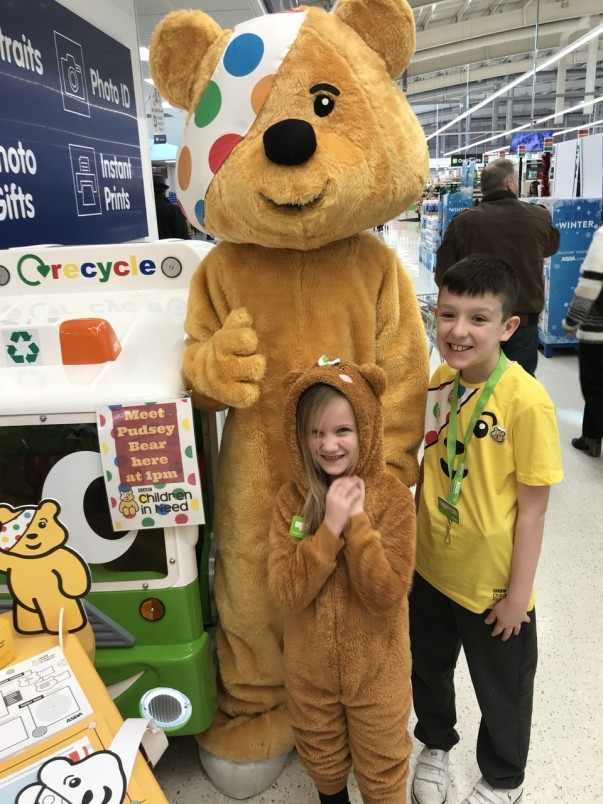 Asda Wigan supporting BBC Children in Need