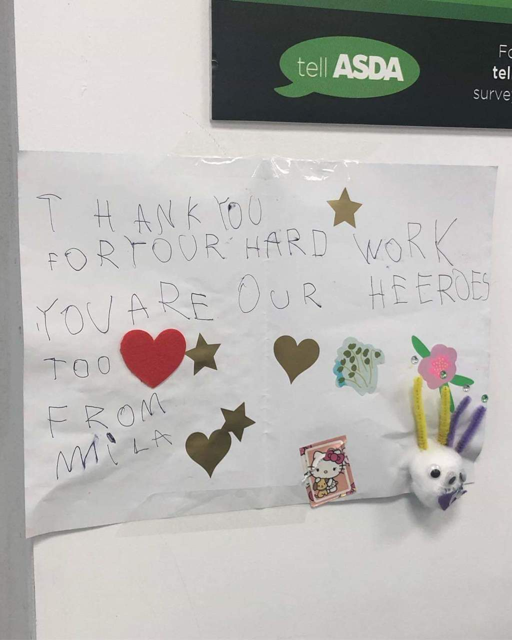Thank you from Mila | Asda Canterbury