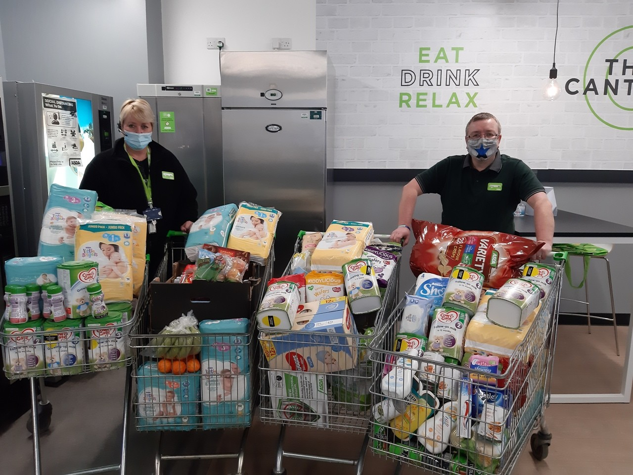 Asda Southbank colleagues rally to support food charity | Asda Middlesbrough