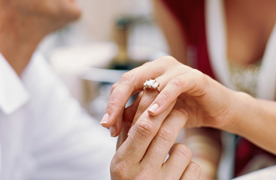 Hands with Diamond Ring