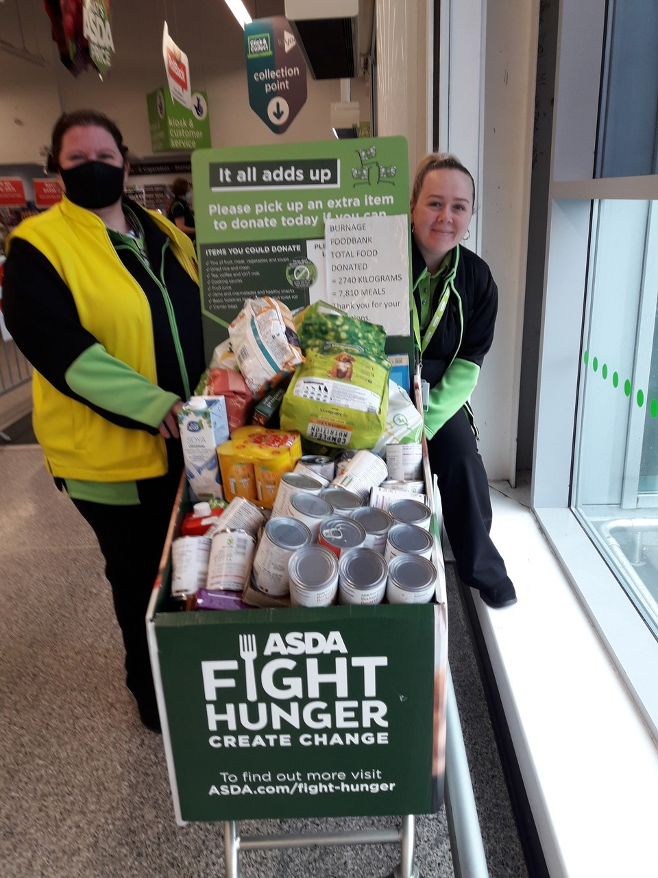 Burnage Foodbank donation | Asda Reddish